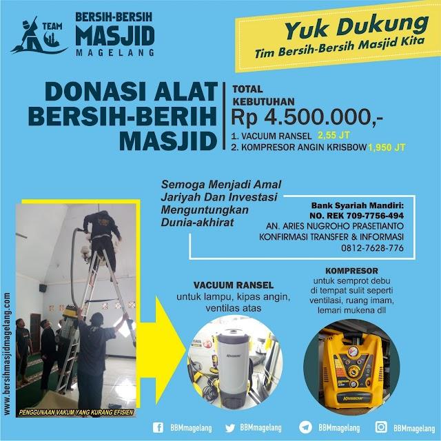 Donasi Pembelian Vacuum Ransel & Kompresor Angin