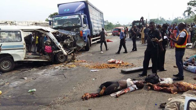Truck crushed four to death in Oyo [PHOTO]
