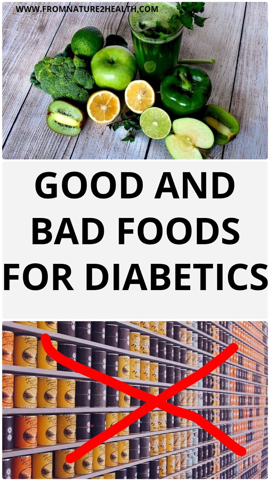 Good and Bad Foods for Diabetics