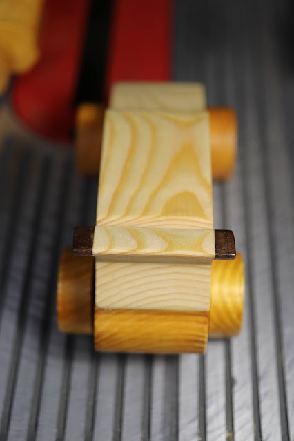Handmade Wooden Toy Car From The Speedy Wheels Series