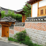 gorgeous and well-maintained streets in bukchon hanok village in Seoul, Seoul Special City, South Korea