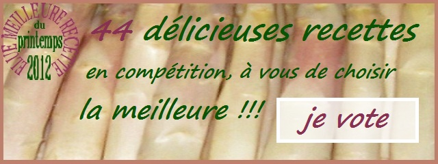 Votez pour la meilleure recette du printemps 2012