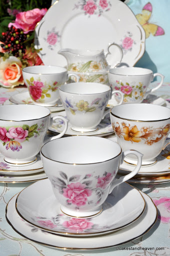 Duchess eclectic bone china vintage tea set