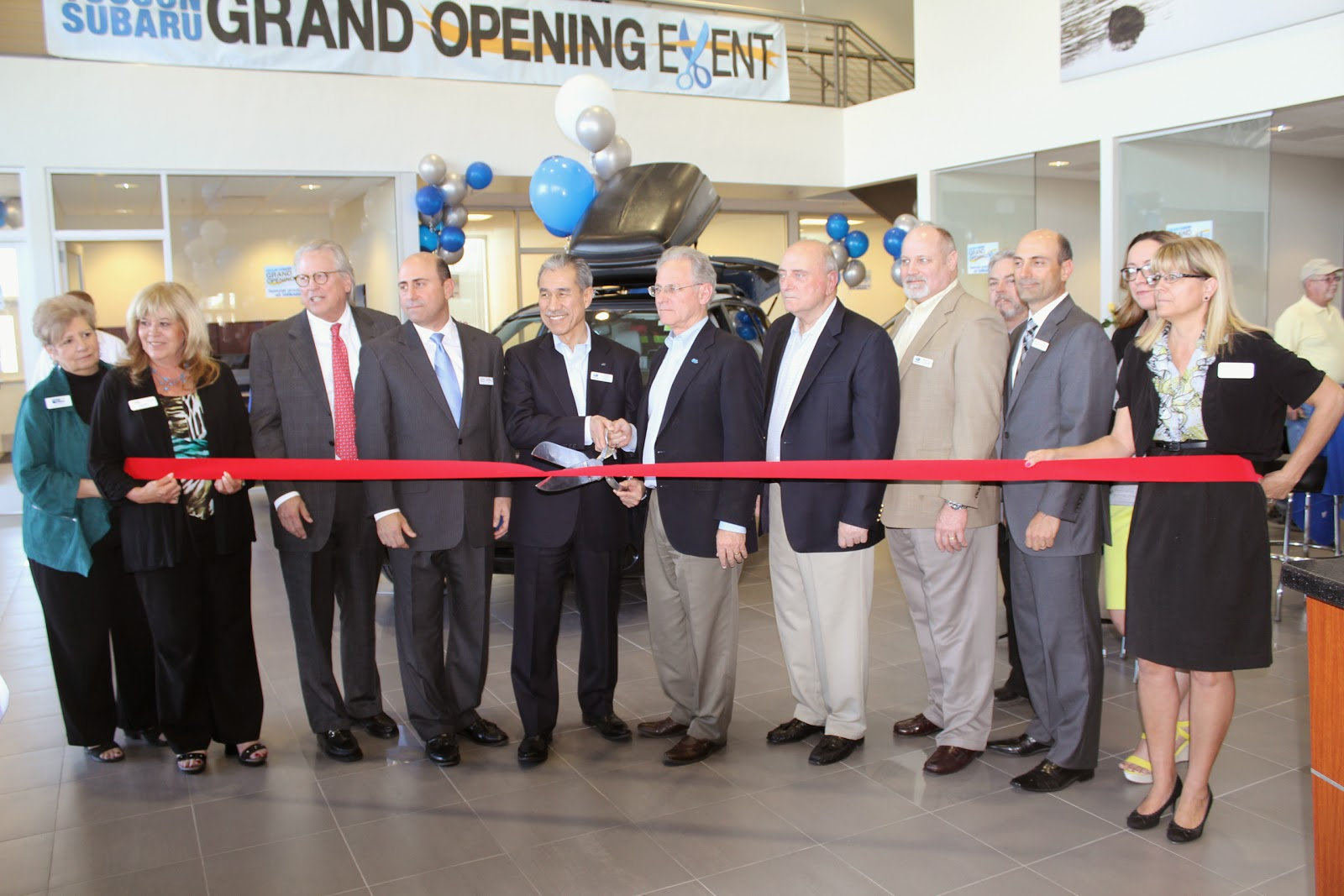 Tucson Subaru - Tucson Subaru's owner's, Rocky and Mike DiChristofano are excited to announce the grand opening of their new location at 4901 N. Oracle Road, just south of River Road.  In celebration and honor of becoming the fastest growing Subaru dealership in the nation, Tucson Subaru hosted a Grand Opening Event on March 5th that was commenced with a Ribbon Cutting Ceremony by the Tucson Metro Chamber.  Guest of Honor Takeshi Tachimori, Subaru of America's Chairman  & CEO, was visiting from Japan for the event.