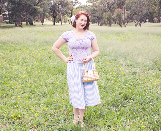Wearing a casual 1950s summer look | Lavender & Twill