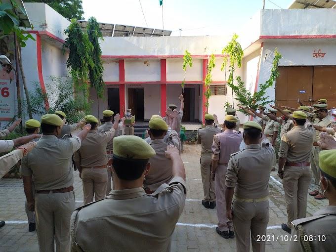 राष्ट्रपिता महात्मा गांधी व लाल बहादुर शास्त्री की धूमधाम से मनाई गई जयंती एवं नारी सुरक्षा की दिलाई गयी शपथ