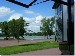 Patio view of boat launch