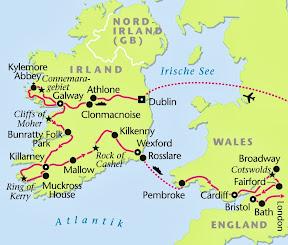 Irland, Wales, Südengland, Rundreise, Heideker Reisen, www.heideker.de, Großbritannien