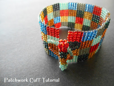 Square Stitch Patchwork Cuff Tutorial