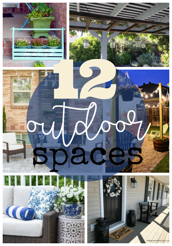 12 Outdoor Spaces at GingerSnapCrafts.com #outdoor #diy #forthehome
