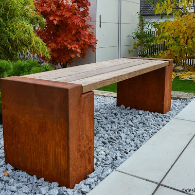 garten design ideen in corten stahl gartengestaltung. Black Bedroom Furniture Sets. Home Design Ideas
