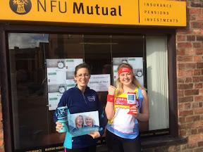 NFU pair preparing for London Marathon
