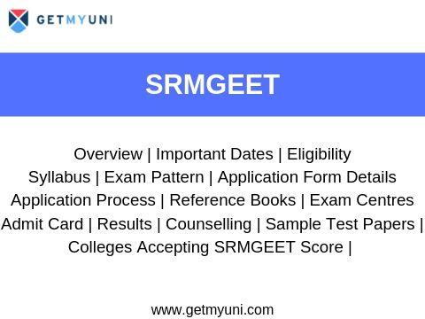 SRMGEET - Dates, Registration, Paper Pattern, Eligibility.