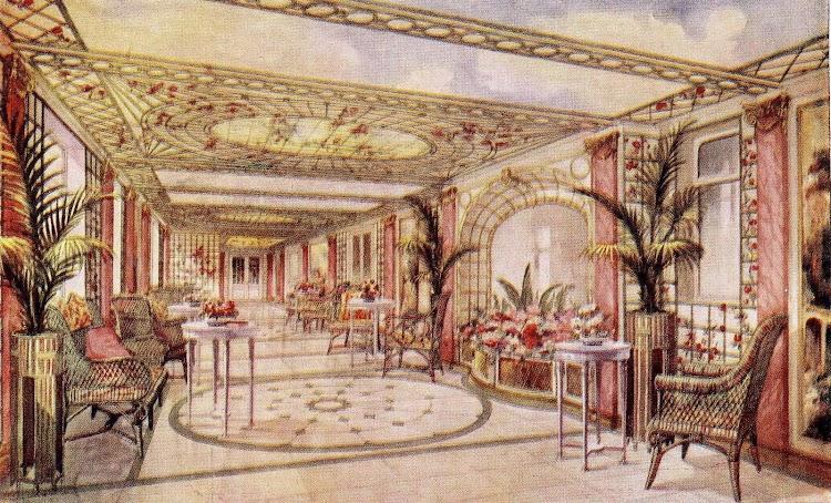 10-Galeria y Restaurante a la Carta. Libro de Información para el pasajero.1913-1914. CTE.jpg