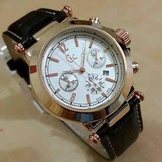Jual jam tangan Gc kulit