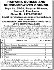 Haryana Nurses and Nurse Midwives Council Notice 2018 www.indgovtjobs.in