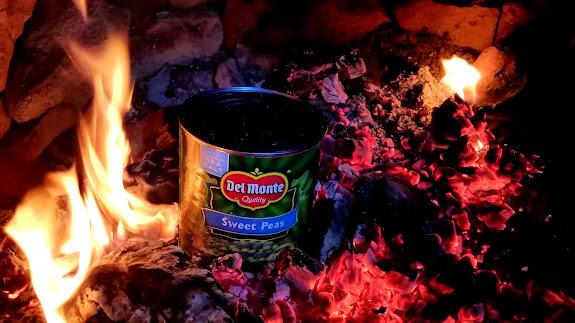 Sweet peas in the fire