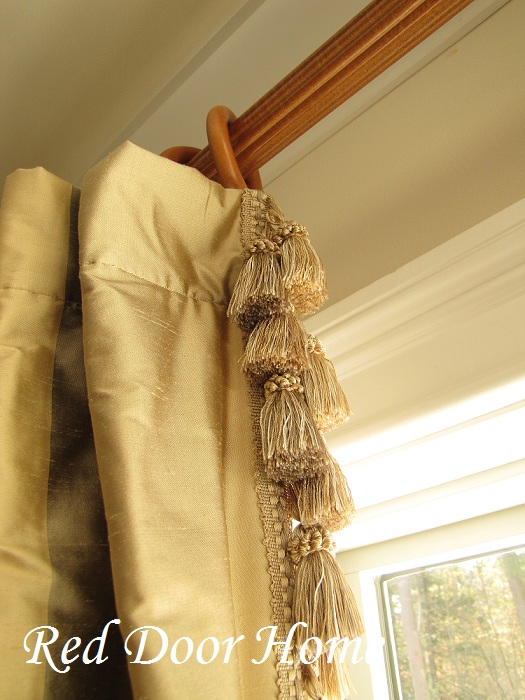how to add decorative trim to curtains