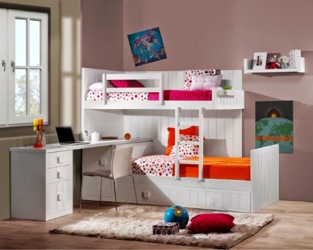 Las camas abatibles o literas abatibles nos permiten dejar - Camas dobles infantiles para espacios reducidos ...