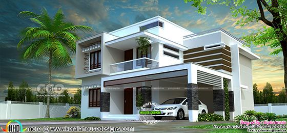 Box type house plan by Aquila Interio