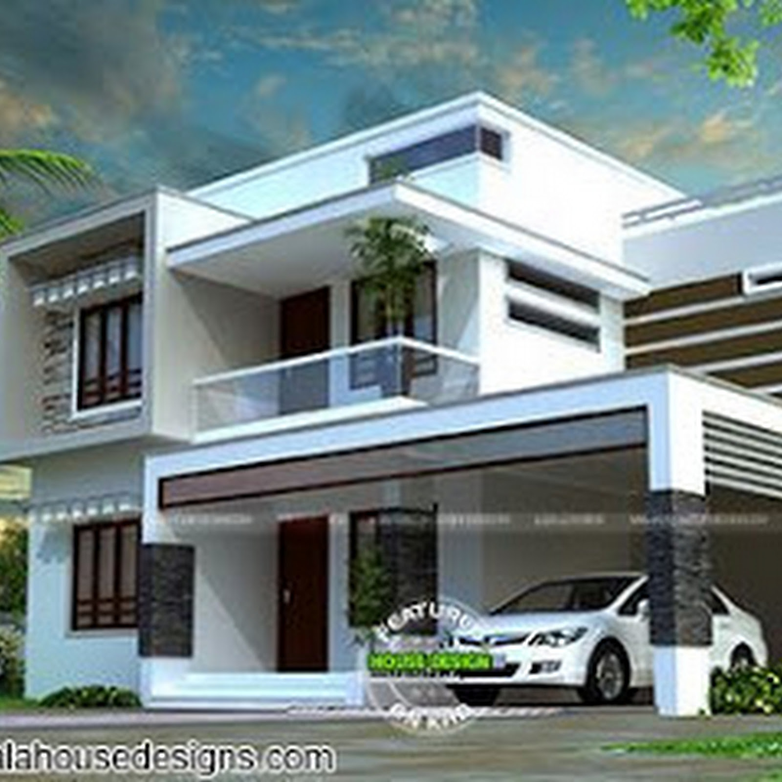 1750 sq-ft 4 BHK box model contemporary house