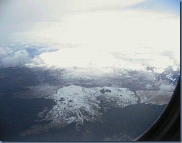snow on slopes below Mt Tongariro