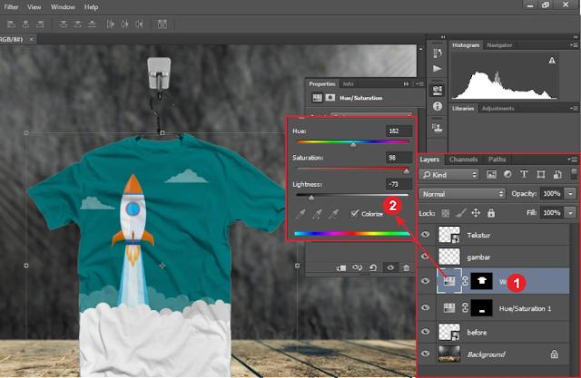 Menggunakan Desain Kaos Adobe Photoshop CC