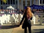 Imagen vía twitter por @HsalasteleSUR: #España. 5 min d silencio con motivo del #25N, día internacional contra violencia de género