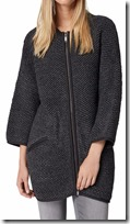 Hallhuber long knitted zip front coat jacket