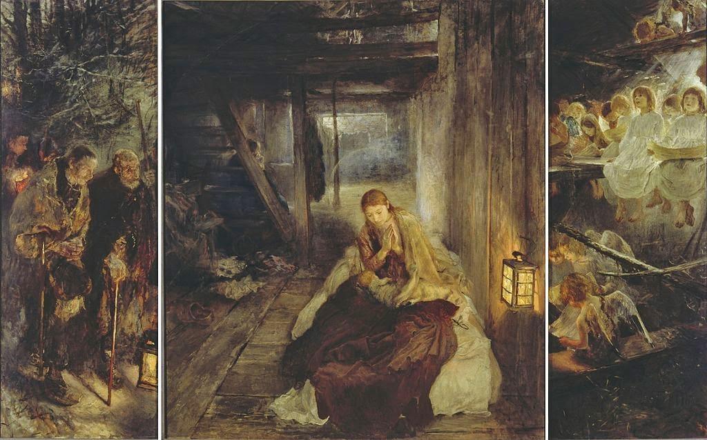 Fritz von Uhde - Die Heilige Nacht (Triptychon