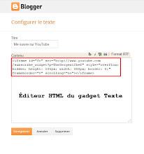 Ajouter le code HTML dans le gadget Texte