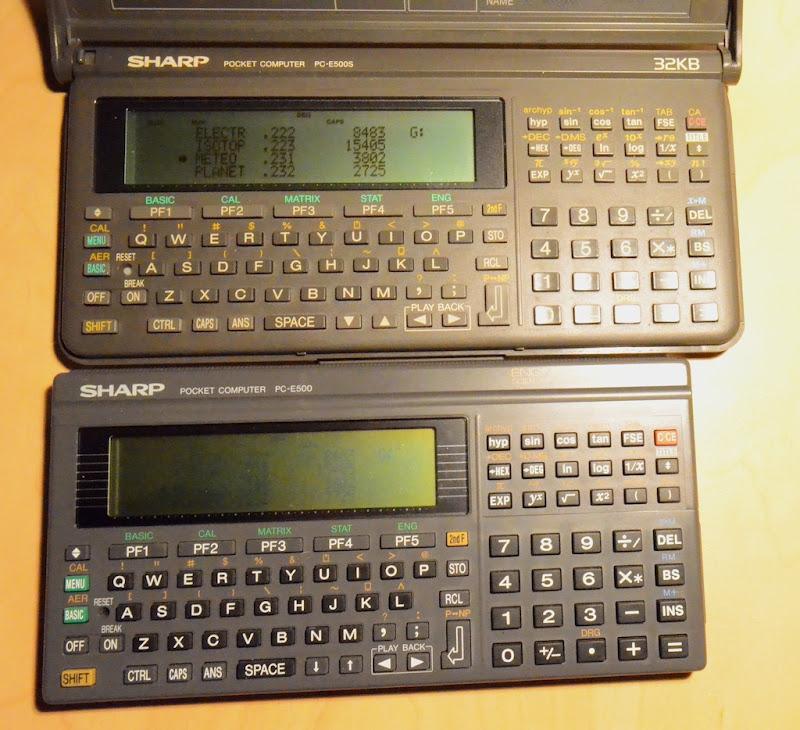 sharp pc e500s software