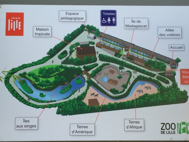 Zoo de Lille plan
