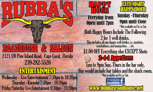 Bubbas Roadhouse BC Ad