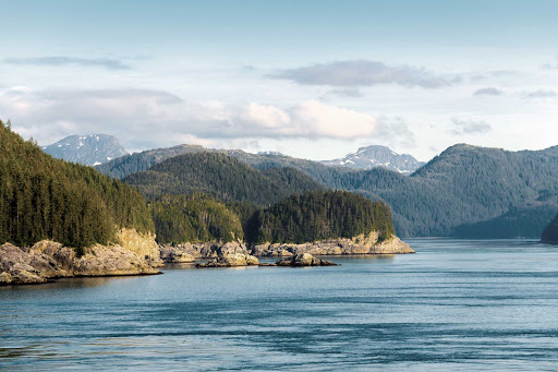 Icy-Strait-Coastline-with-Mountains.jpg -  See pristine Icy Strait Point and enjoy woodland walks or water activities during an American Cruise Lines voyage.
