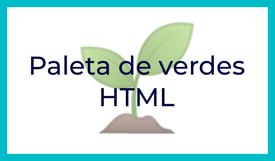 colores html verde