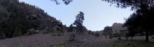 Arrivée dans la partie centrale de Ghjarghje Rosse