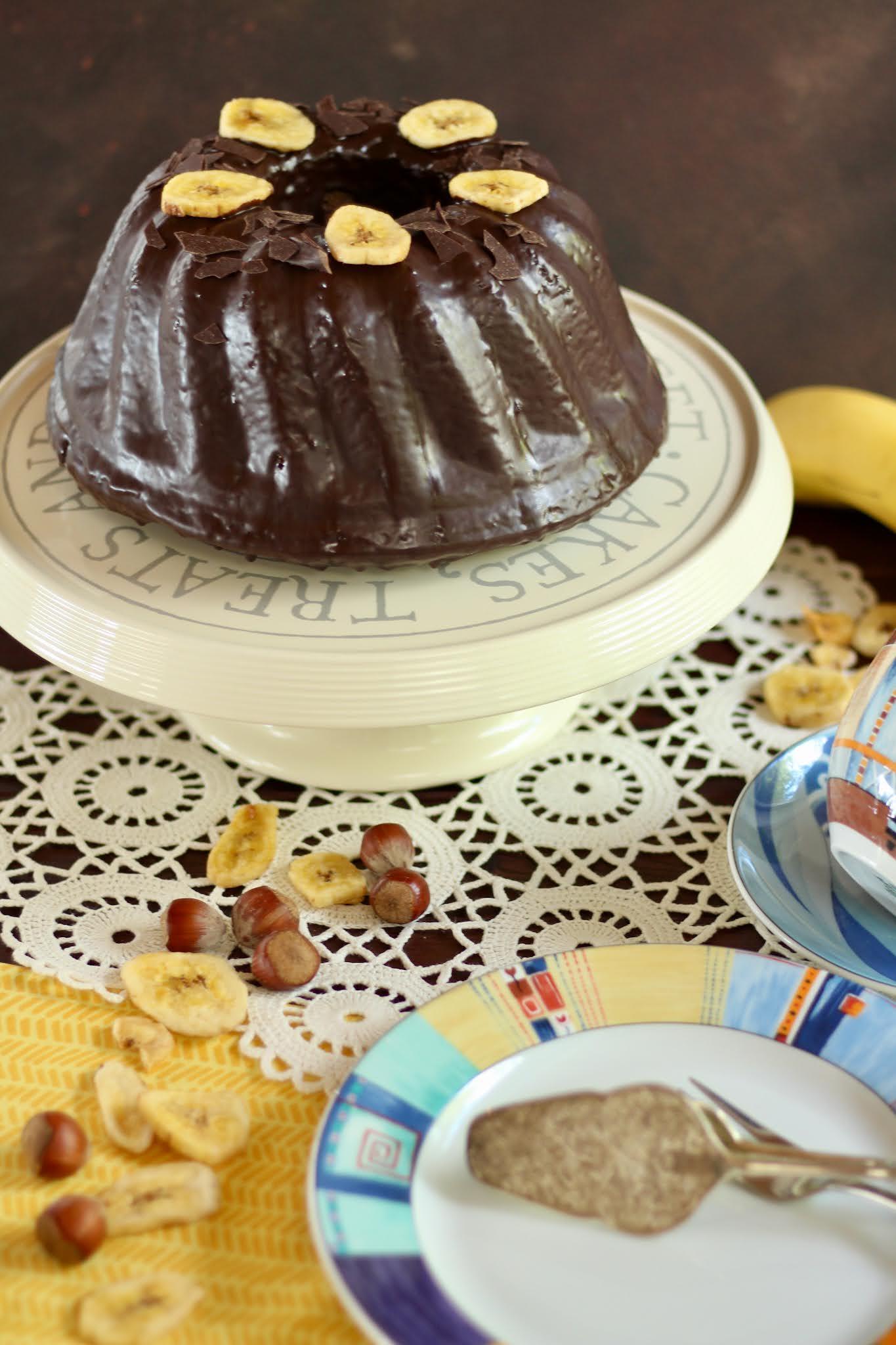 Saftiger Schoko-Bananen-Gugelhupf - super einfach und schnell - VEGAN | Rezept und Video von Sugarprincess