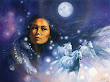 Moon Goddess Sky