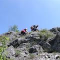Staza od brane Prezid do samih izvora podno stijena Misija visokih preko 200 m vodi kraškim terenom