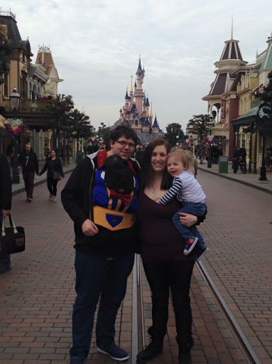 baby wearing at disney
