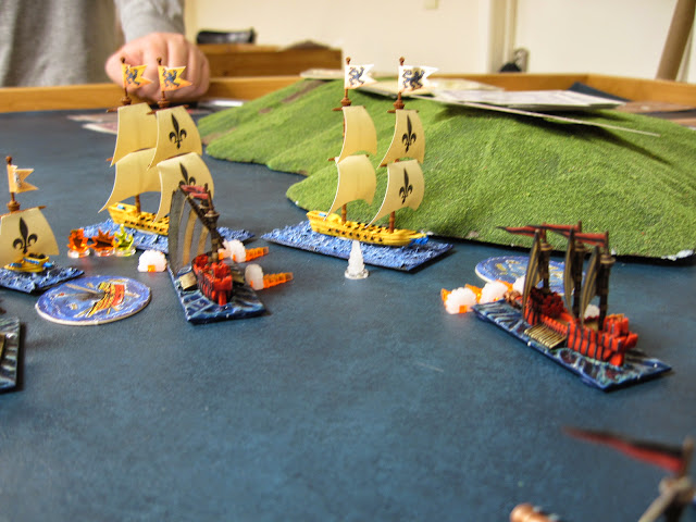 Next turn, the lead Corsair explodes and the ram fails to damage.