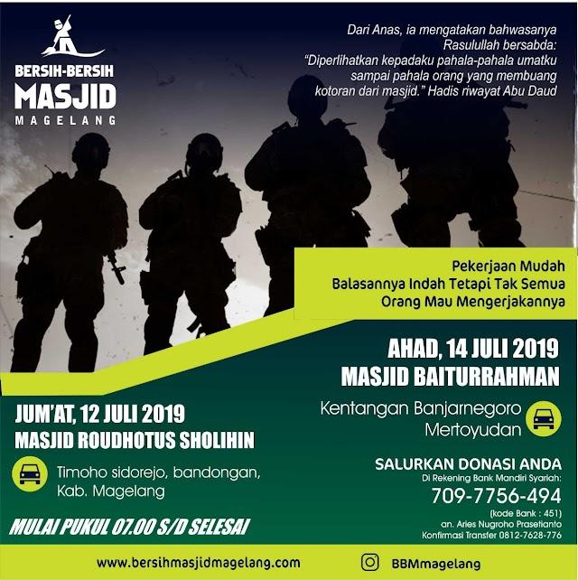 Bergabunglah dalam Kegiatan Bersih-Bersih Masjid Baiturrahman Kentangan, Banjarnegoro, Mertoyudan, kabupaten Magelang