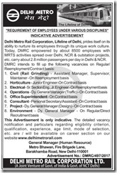 DMRC Advertisement 2017 www.indgovtjobs.in