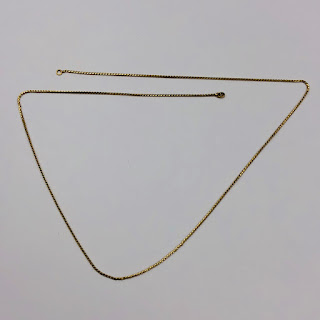 18K Gold Long Chain Necklace