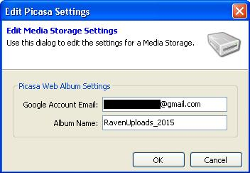 The New Picasa Settings Dialog Box