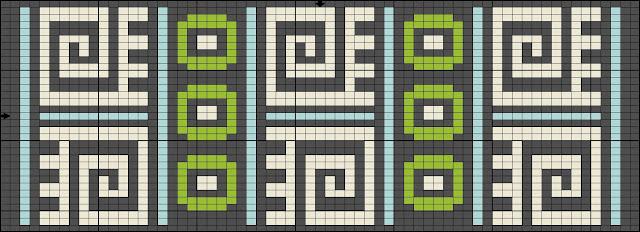 бисер схема браслет ткачество орнамент