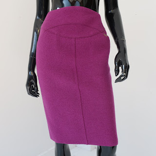 Chanel Boiled Wool Pencil Skirt