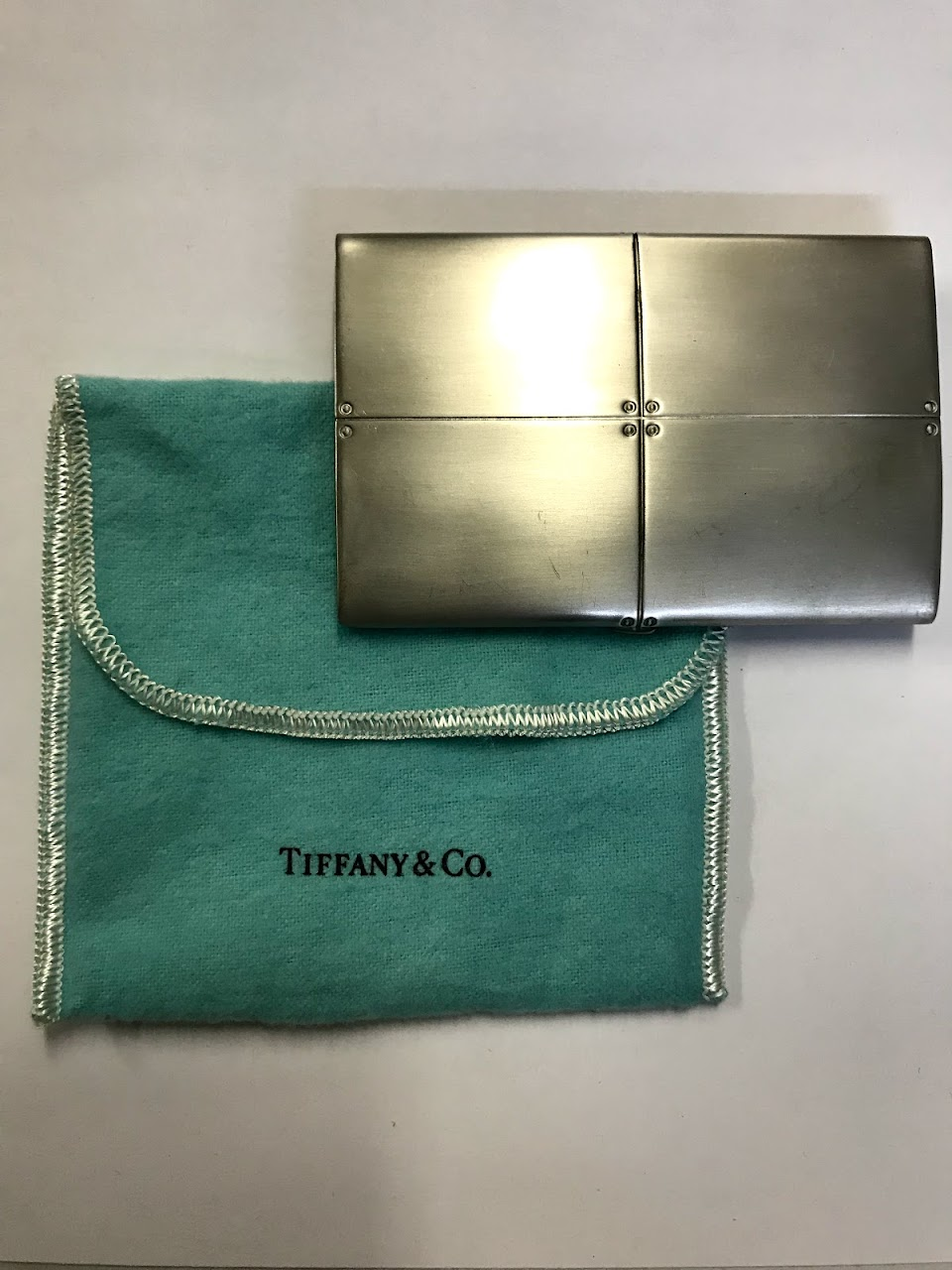 Tiffany & Co. Sterling Silver Streamerica Business Card Case ...