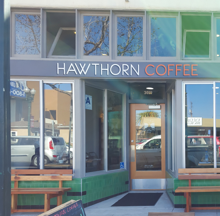 photo of the outside of Hawthorn Coffee
